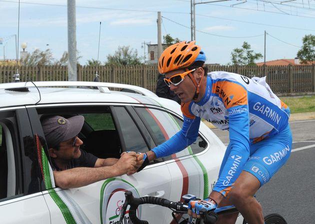 David Millar and doctor, Giro d'Italia 2010, stage 13