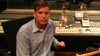 Jason Perry at the mixing desk