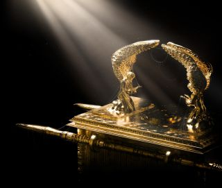 A modern day artist's imagining of what the Ark of the Covenant may have looked like.