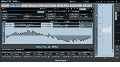 The oscillator's waves can be modified heavily with the Custom Shape and Step Sequencer functions