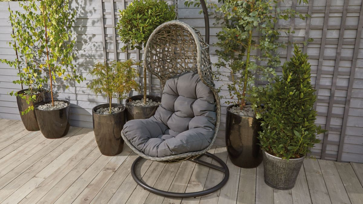Morrisons' Rattan Hanging Pod Chair is the perfect Aldi dupe for just £185