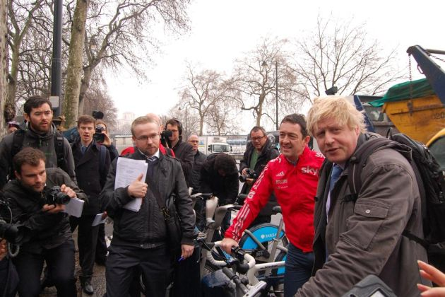 Chris Boardman and Boris Johnson, London, March 2013