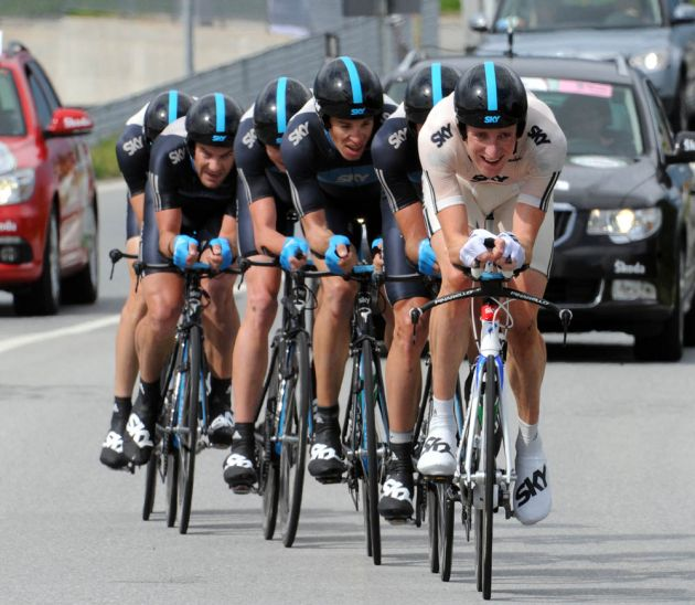 Wiggins fronts Team Sky, Giro d'Italia 2010, stage 4 TTT