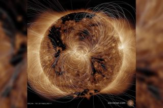 Massive blasts of plasma can launch forth when the sun's magnetic field lines tangle, break and recombine.