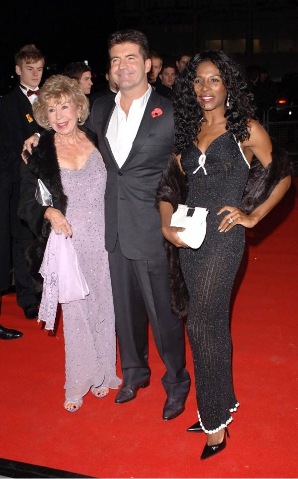 Julie Cowell, Simon Cowell and Sinitta