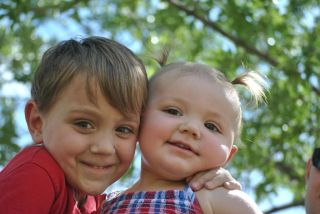 Colton Ainslie (5) and his sister Abbygail Ainslie (1) were born with severe combined immunodeficiency, and have both received a new gene therapy treatment for their condition.