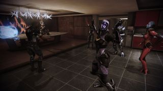 A dance party in Mass Effect 3's Citadel DLC