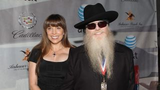"""Musician Dusty Hill of ZZ Top (R) and his wife Charlene """"Chuck"""" Hill"""