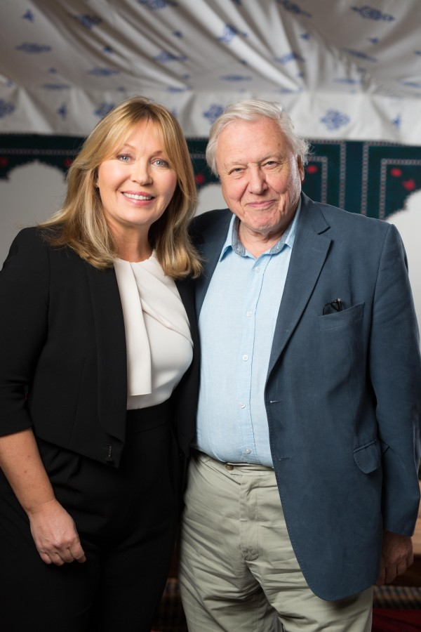 Kirsty Young with Sir David Attenborough