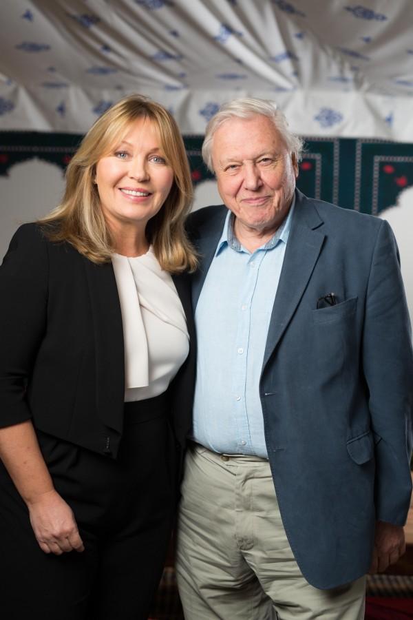 Kirsty Young with Sir David Attenborough