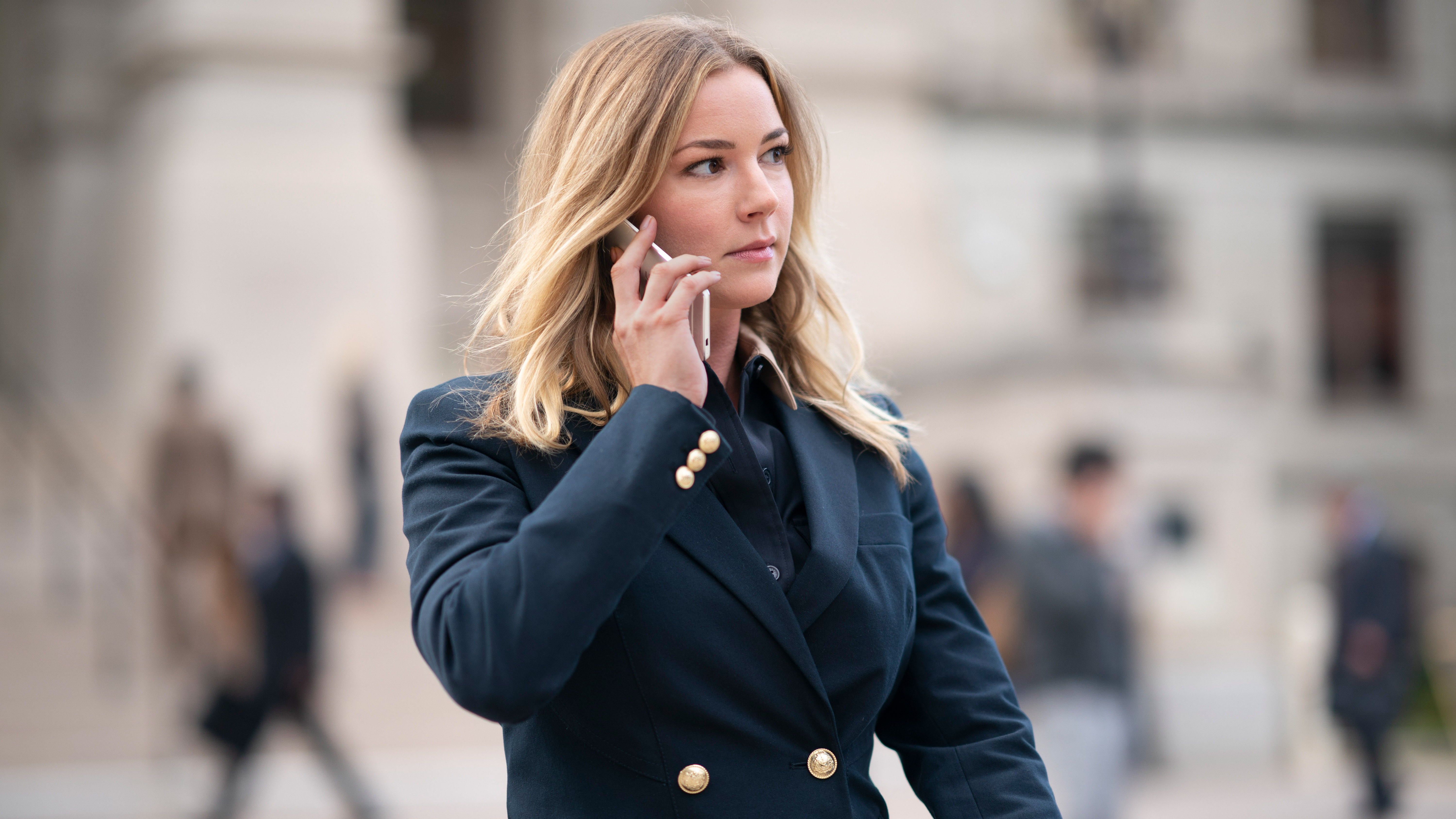 Sharon Carter makes an important call to her clients