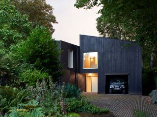 a contemporary home built with a fabric first approach