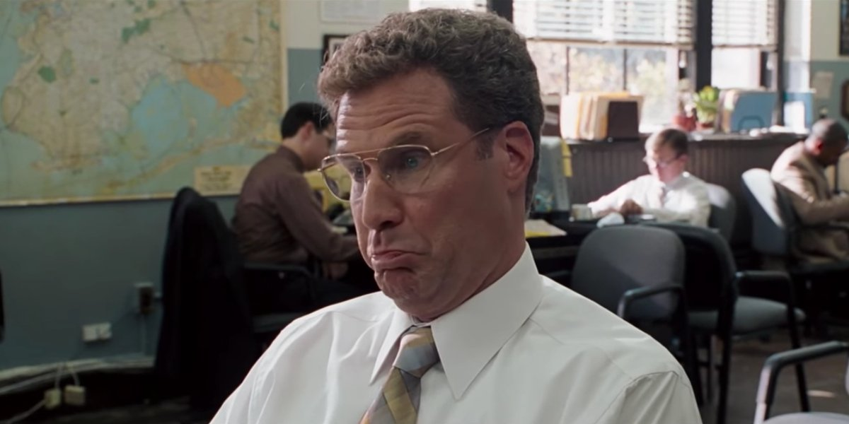 Will Ferrell getting to the bottom of a conspiracy