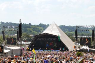 Pyramid Stage at Glastonbury