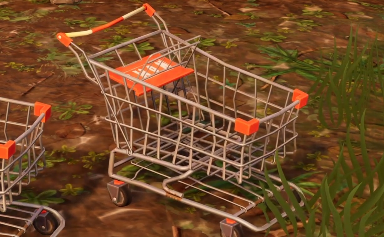 fortnite player brutally murdered by the little shopping cart that could pc gamer - fortnite cart