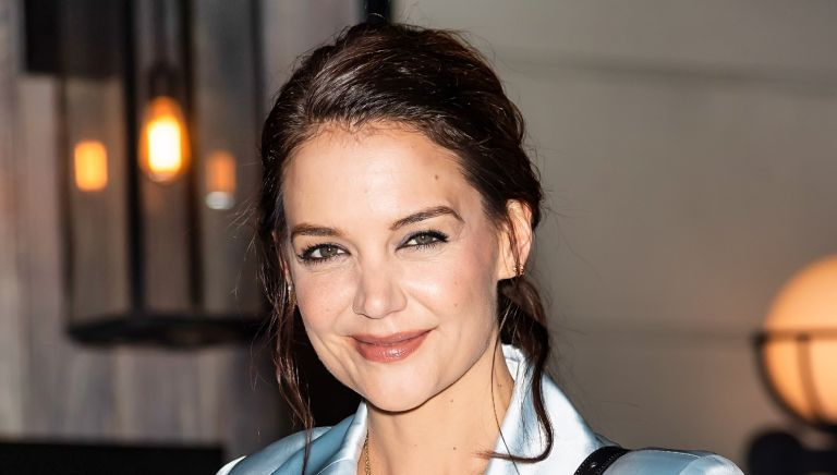 Actress Katie Holmes is seen arriving to Flaunt and Zadig & Voltaire The Home Issue: A Return honoring Katie Holmes at Butterfly Soho on February 08, 2020 in New York City.