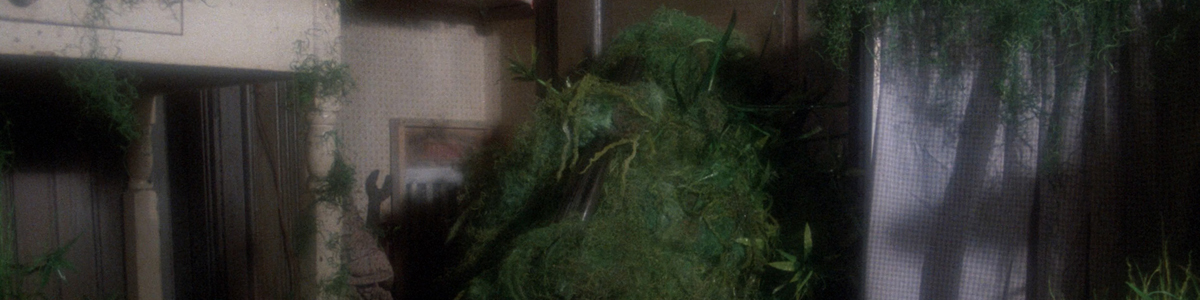 Stephen King as Jordy Verrill covered in space moss in Creepshow