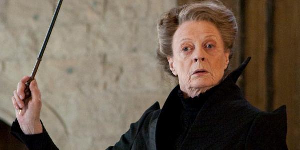 Maggie Smith as Professor Minerva McGonagall in Harry Potter movie