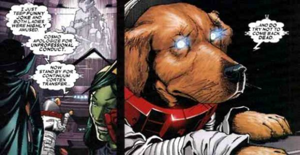Nathan Fillion's Guardians Of The Galaxy Cameo Revealed Cosmo The Dog Guardians Of The Galaxy