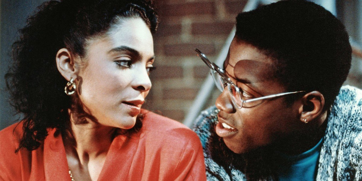 Kadeem Hardison and Jasmine Guy in A Different World