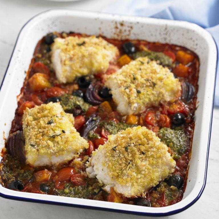 Crispy Cod Tray Bake recipe-Cod recipes-recipe ideas-new recipes-woman and home