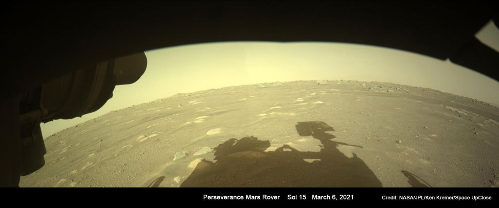 Perseverance rover spies its shadow on Mars (photo)