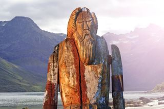 statue of Odin.