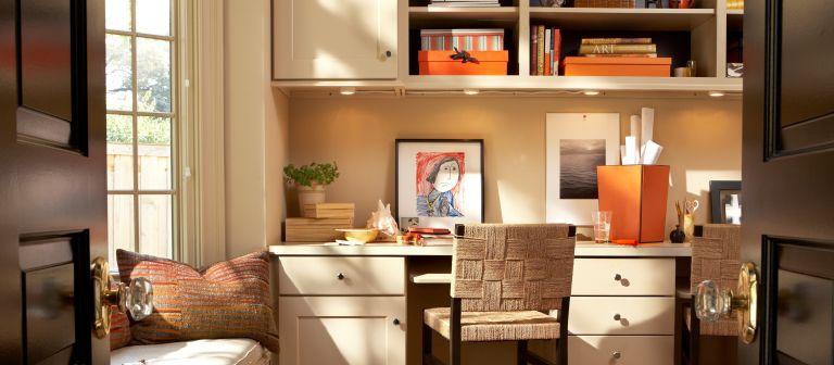 desk storage ideas - Interior of a Contemporary Home Office