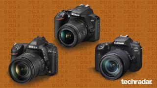 The Nikon D780, Nikon D3500 and Canon EOS 90D DSLRs