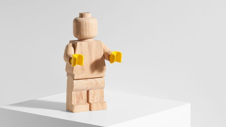Lego wooden minifig