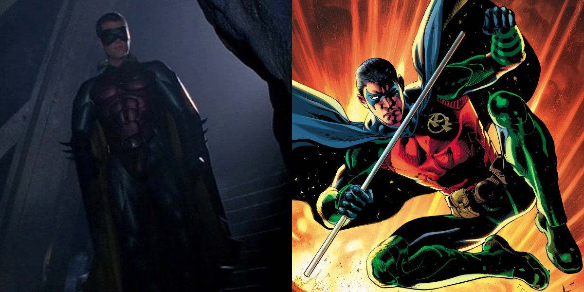 Chris O'Donnell as Robin in Batman Forever and Tim Drake as Robin