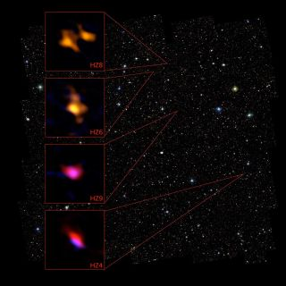 ALMA View of Four Ancient Galaxies