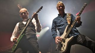 Status Quo's Francis Rossi and John 'Rhino' Edwards