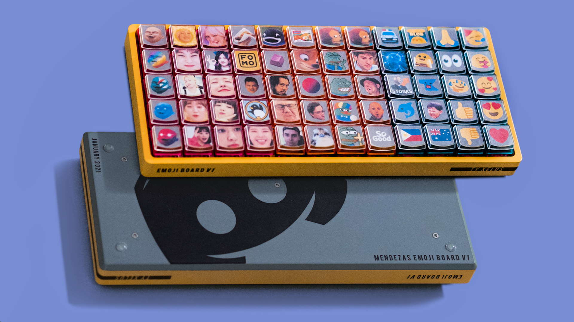 This keyboard was built for the sole purpose of spamming emotes in Discord