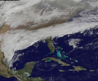 Winter Storm over South