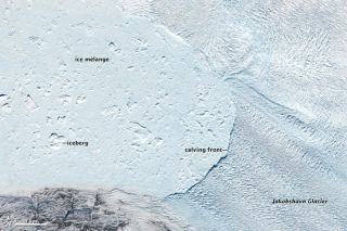 The Jakobshavn glacier seen on May 9, 2014