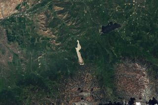 A Colorado landslide from space.