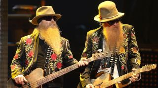ZZ Top's Dusty Hill and Billy Gibbons onstage