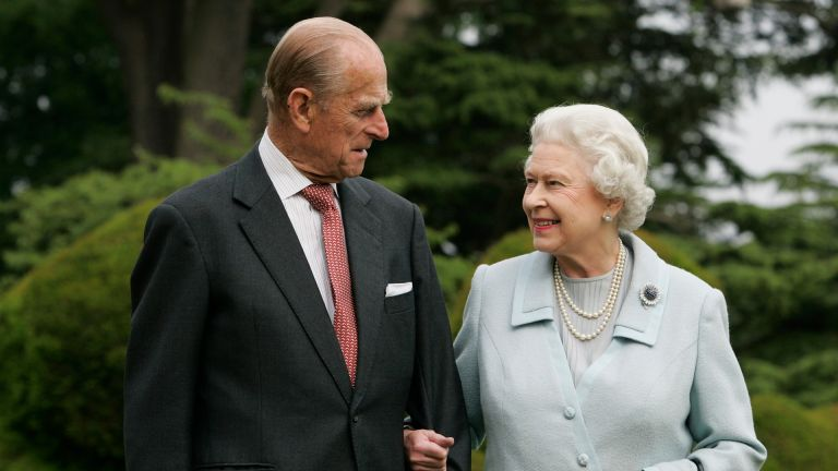 Queen Elizabeth II and Prince Philip, The Duke of Edinburgh re-visit Broadlands, to mark their Diamond Wedding Anniversary on November 20