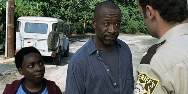 Morgan with Duane on The Walking Dead episode 1