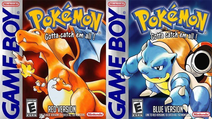 Pokémon Red and Blue Game Boy box arts