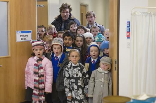 Nativity! - Marc Wootton's puppyish Mr Poppy & Martin Freeman's Mr Maddens take charge of a primary school nativity play in Debbie Isitt's film comedy