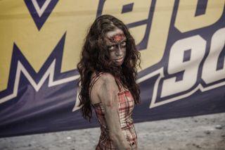 Female zombie, fear