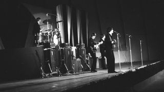 The Beatles performing at the Hollywood Bowl, 1964