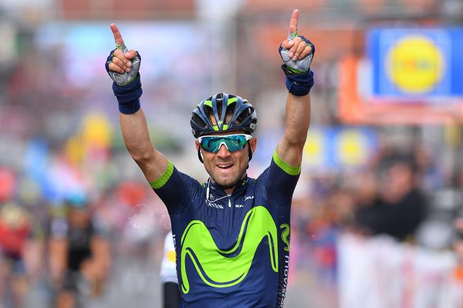 Alejandro Valverde (Movistar) wins the 2017 Liège-Bastogne-Liège