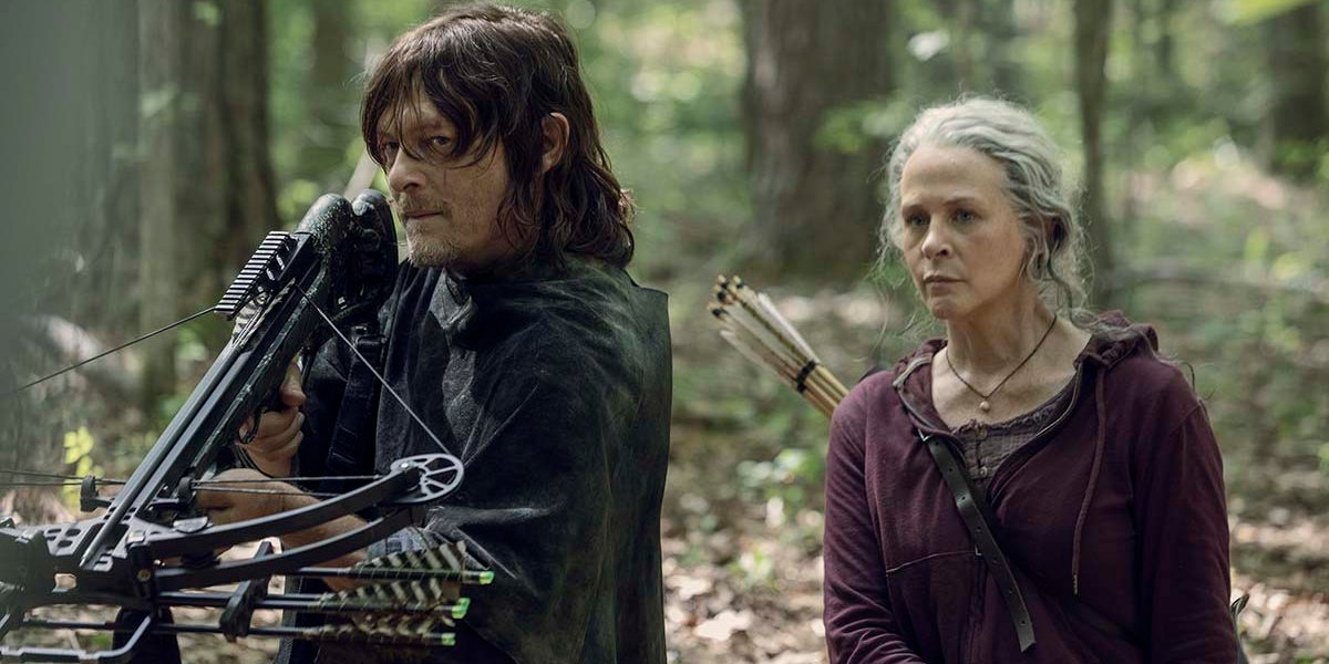 Daryl Dixon and Carol Peletier in The Walking Dead.