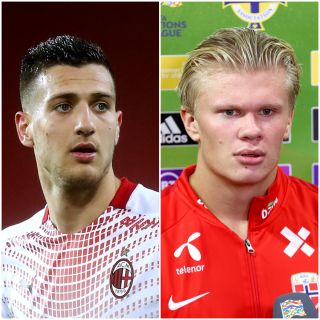 Diogo Dalot and Erling Haaland