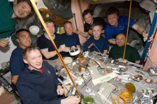 Crowded Space Station Has International Flair, Astronaut Says