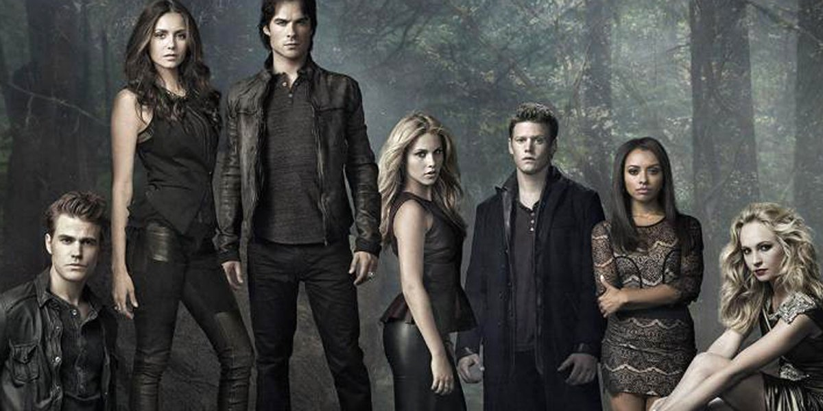 The cast of The Vampire Diaries Stefan Elena Damon Matt Bonnie Caroline