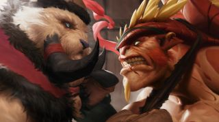Two of Artifact's heroes face off
